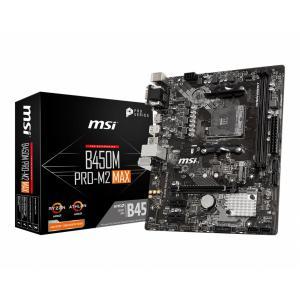 Płyta główna B450M PRO-M2 MAX AM4 2DDR4 DVI/VGA/HDMI M.2 u-ATX