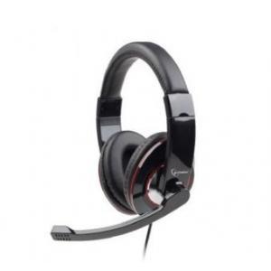 Słuchawki z mikrofonem MHS-001 czarne