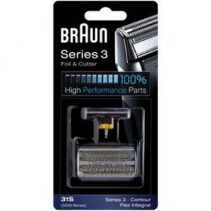 Akcesoria do maszynek do golenia Braun CombiPack FlexIntegral - 31S Srebrne