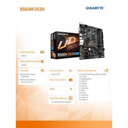 Płyta główna B560M DS3H s1200 4DDR4 HDMI/DP/USB-C M.2 mATX