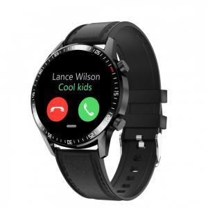 Smartwatch Gentleman GT skórzany Czarny
