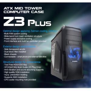 Obudowa Z3 Plus ATX Mid Tower Blue LED fan ODD