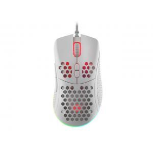 Mysz Genesis Krypton 550 8000 DPI podświetlenie RGB dla graczy lekka Biała