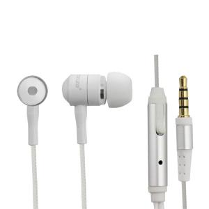 Słuchawki douszne mobil z mikrofonem Białe