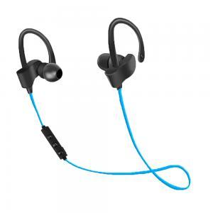 Słuchawki douszne Bluetooth sportowe Czarno-niebieskie